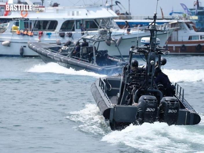 警方西貢宣揚安全守法水上活動 籲「向毒品說不」