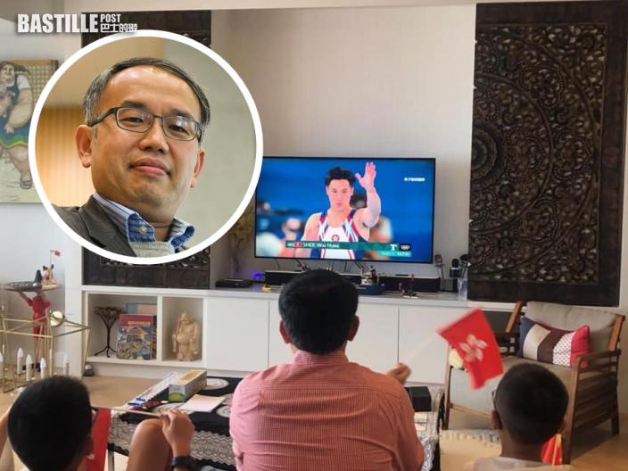 【東京奧運】許正宇一家大小安坐電視機前 為國家及香港運動員打氣