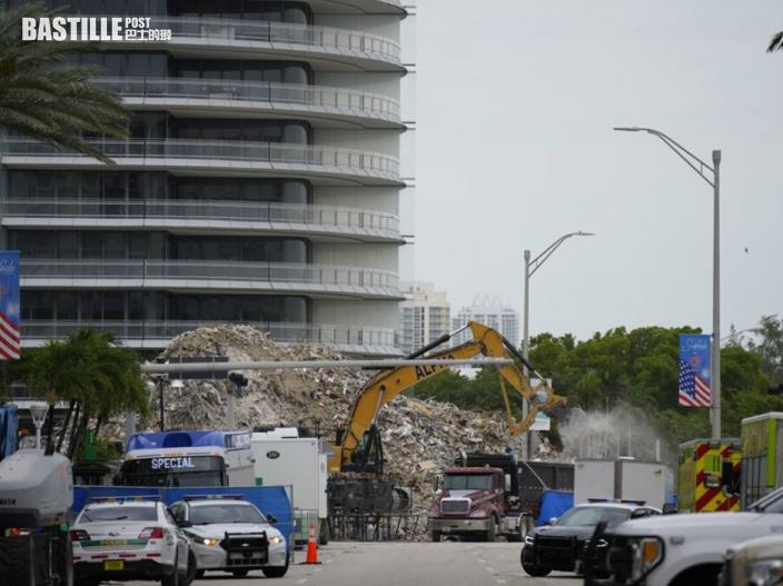 邁阿密塌樓事故遺體搜索結束 仍有1名住戶失蹤
