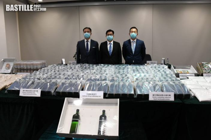 海關破3宗大毒案拘5人 食物藏2.3億元毒品