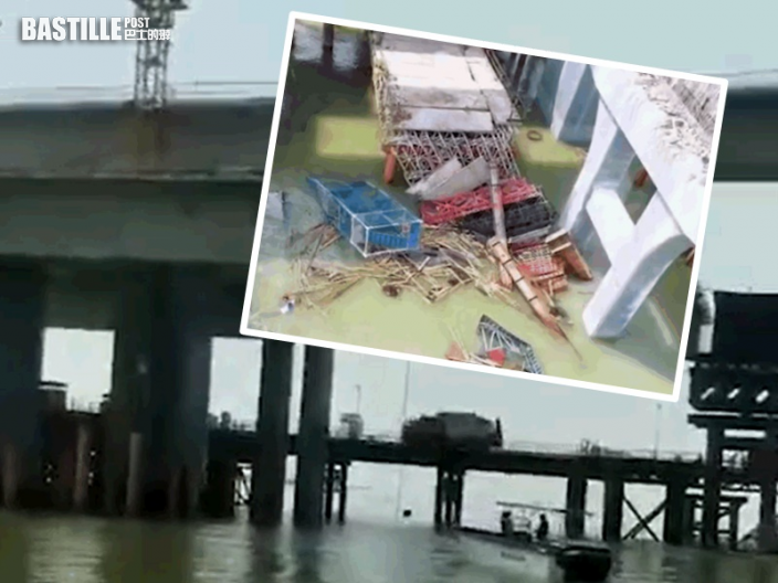 珠海金海大橋施工段垮塌 5人墮海失蹤