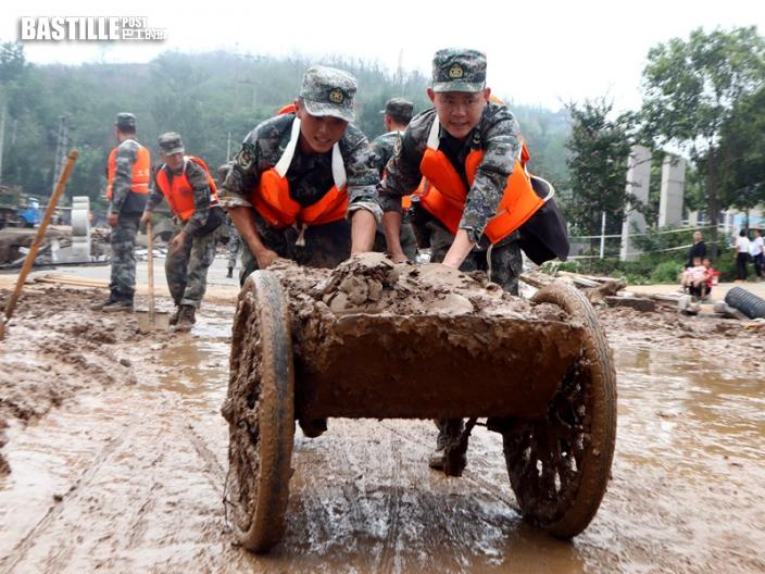 河南暴雨增至63死5失蹤 1144萬人受災