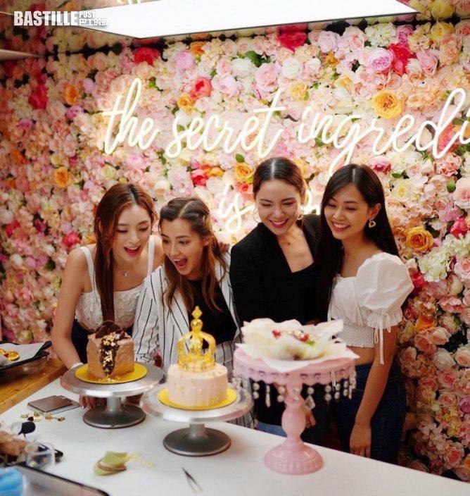 應屆三甲港姐學整后冠蛋糕 賀「友誼小姐」鄺美璇25歲生日