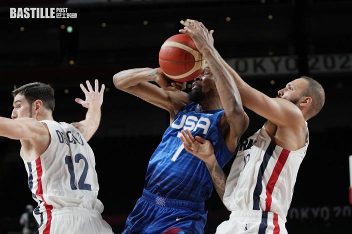 【東京奧運】美國男籃不敵法國