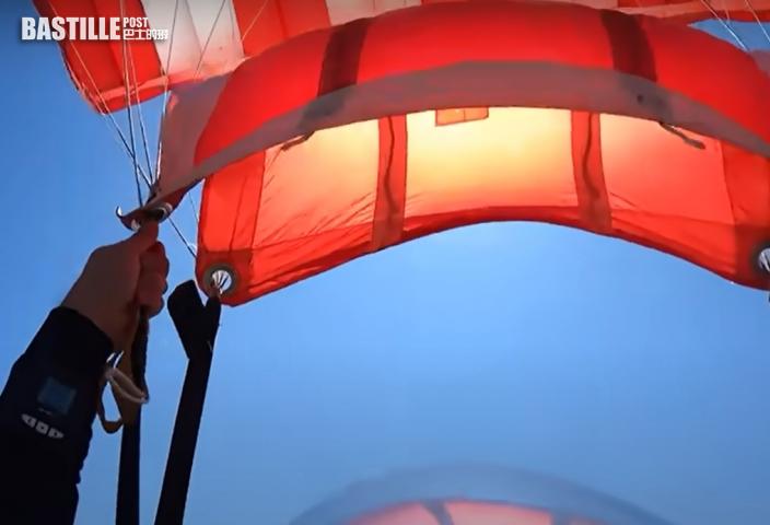 【有片】意男4000米跳傘驚覺繩索纏繞 驚險一刻曝光