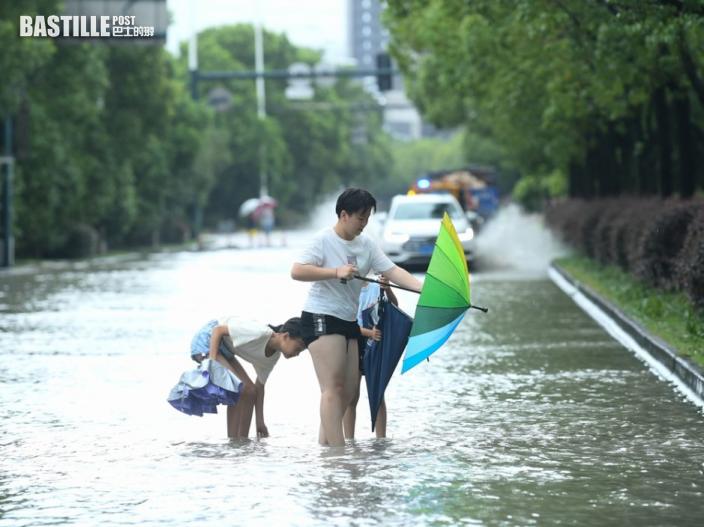 颱風「煙花」登錄浙江余姚災情嚴重 雨量相等於37個西湖