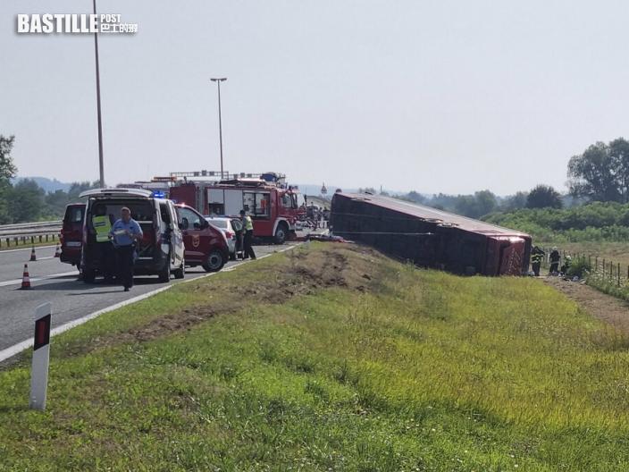 克羅地亞巴士司機打瞌睡釀嚴重車禍 釀10死44傷