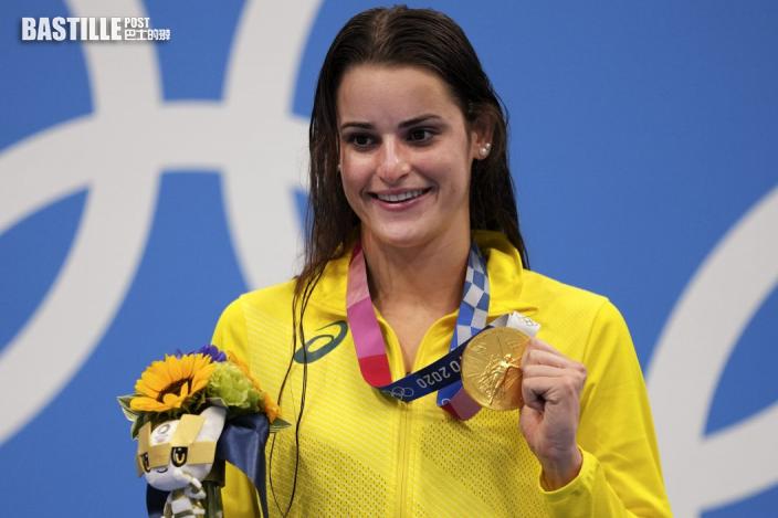 【東奧游泳】破奧運紀錄封后  麥姬昂「亡父賜力量」