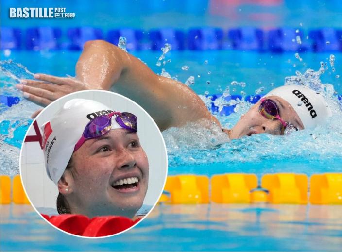 【東奧游泳】感謝教練父母支持 何詩蓓:無佢哋唔會有今日嘅成就
