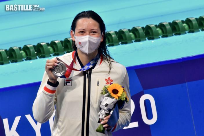 【東奧游泳】何詩蓓難以形容奪牌感受 喜見自己成為頂尖泳手