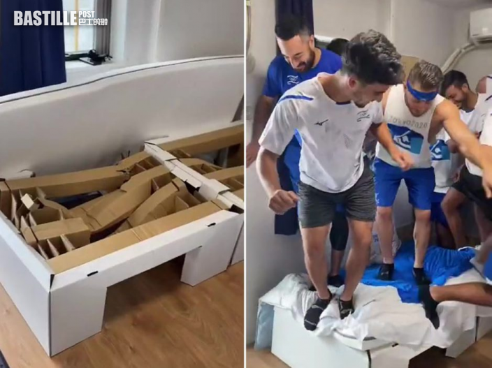 【東京奧運】紙板牀堅固性能惹疑 9名選手實測「一起跳才垮」