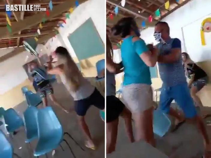 網傳巴西男帶小三打針遇正宮 3女1男大亂鬥狂飛櫈
