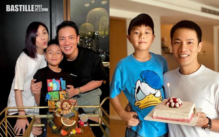 丁子高晒全家福預祝42歲生日 9歲Torres同爸爸十足餅印