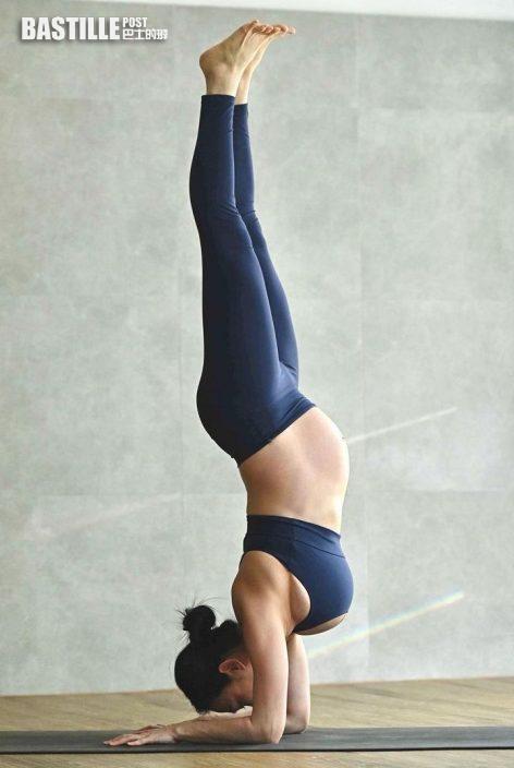【靚媽唔易做】自稱可減腰痛助產後修身 楊焉懷孕34周堅持做瑜伽