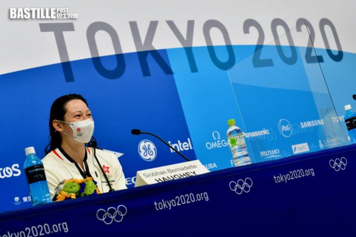 【東奧游泳】何詩蓓現身賽後記者會 盼獎牌可以令香港人團結