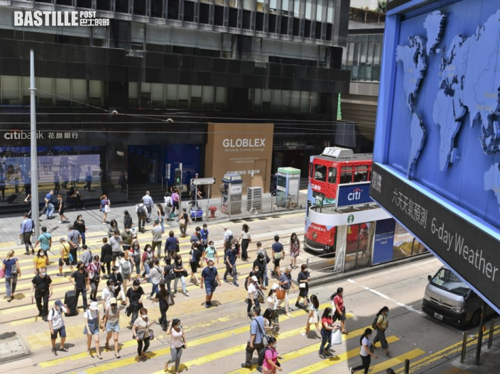本港第二季GDP預先估計按年經濟增長7.5%