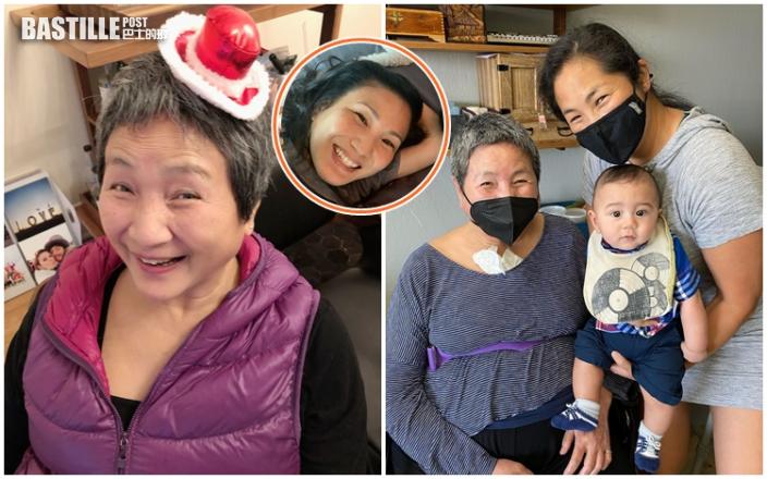 原子鏸攜子赴美探母 75歲鄭佩佩腰綁固定帶令人擔心