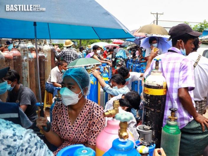 緬甸新冠疫情告急 英國警告半數人口恐兩週內染疫
