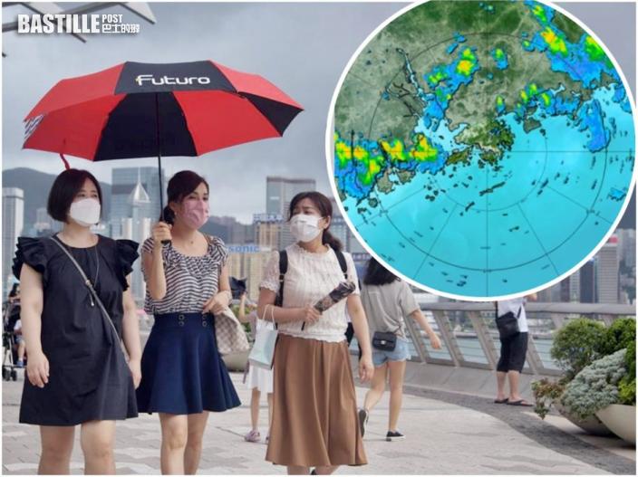 【記得帶遮】雷雨區東移 未來一兩小時影響香港
