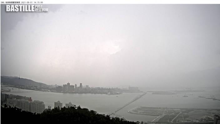 澳門發黑色暴雨警告 低窪地區水浸