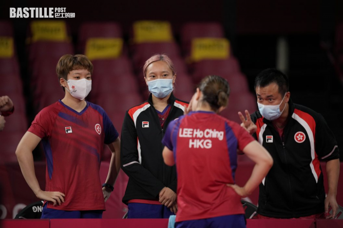 【東奧乒乓】香港男隊出師不利 十六強首仗負法國隊出局