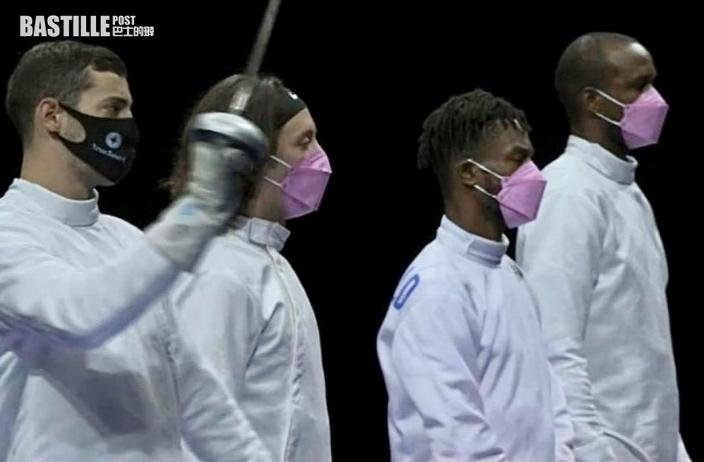 【東奧劍擊】團體賽美國男選手捲性侵案仍出戰 3隊友帶粉紅色口罩抗議