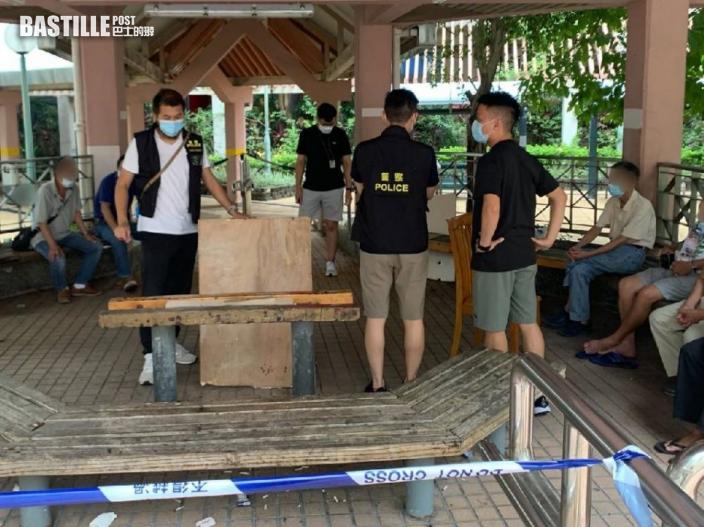 警荃灣打擊街頭賭博 3男被捕5塘邊鶴同遭票控