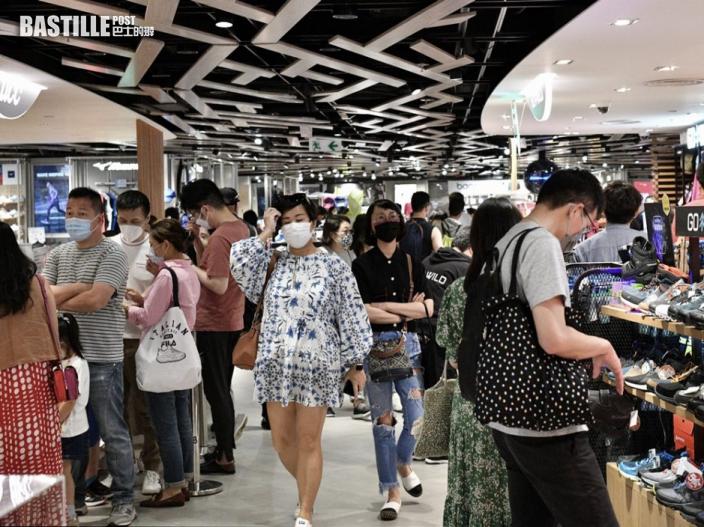 本港6月零售銷貨價值按年升5.8% 遠遜預期