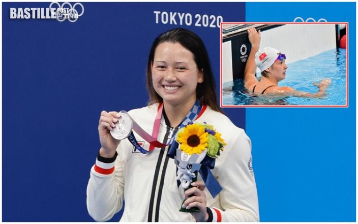 何詩蓓100米自由泳勇奪銀牌 逾66萬人睇無綫見證歷史一刻