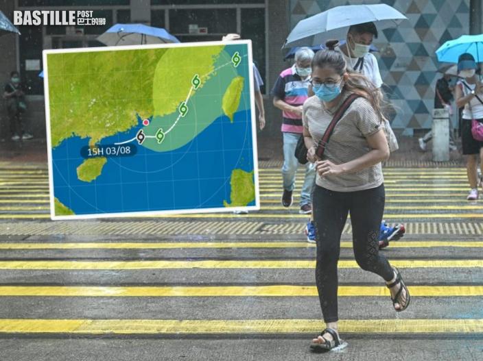 天文台短期內改發三號風球 熱帶低氣壓今晚最接近香港