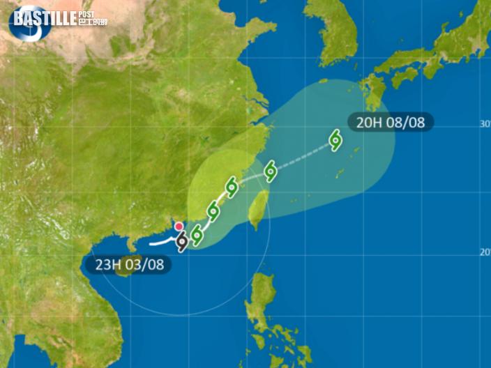 天文台:熱帶低氣壓正逐漸遠離本港