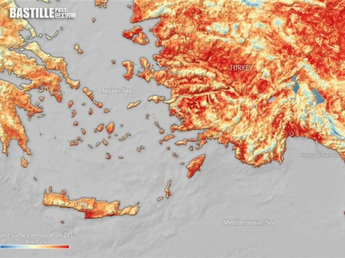 熱浪席捲歐洲 土耳其和賽普路斯錄得逾攝氏50度