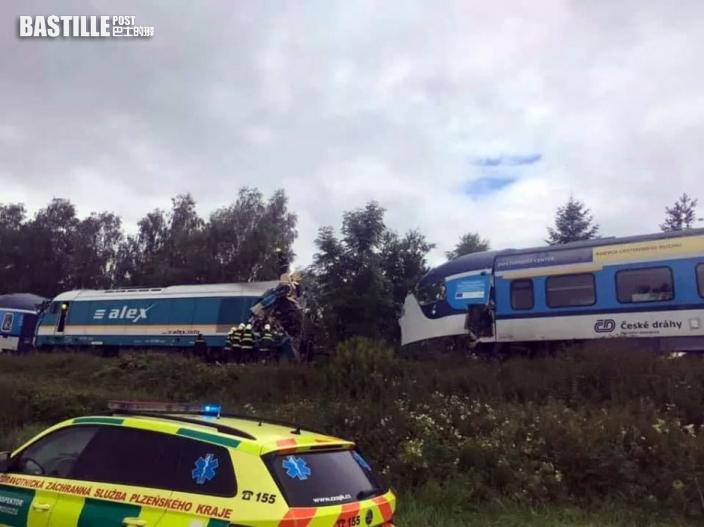 捷克發生火車相撞事故 致兩死數十傷