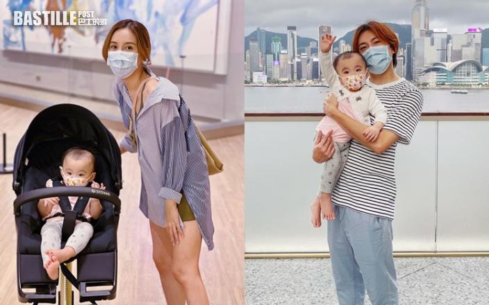 36歲生日前夕收驚喜 雨僑囡囡趕及一歲前學識戴口罩