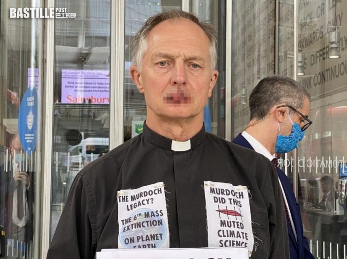 英牧師用線縫嘴 無聲抗議梅鐸冷待氣候問題
