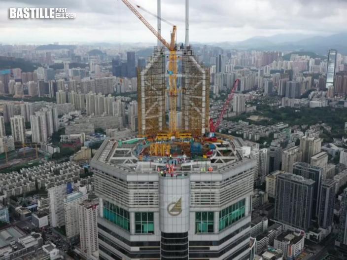 深圳賽格大廈晃動原因查明 正拆除樓頂桅桿