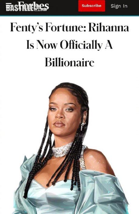 Rihanna擁132億港元身家 登全球最有錢女音樂人榜首