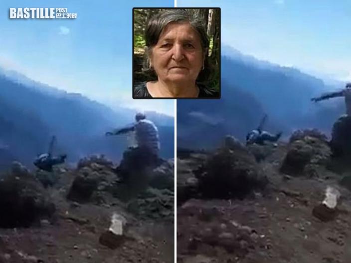 全家行山 土耳其男意外拍下外母失足墮崖瞬間