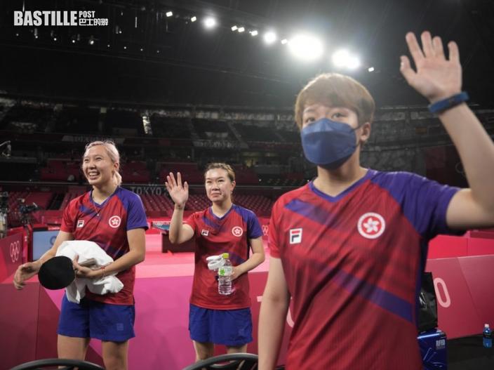 【東奧乒乓】港隊女團奪銅牌 恒基向選手頒發250萬獎金