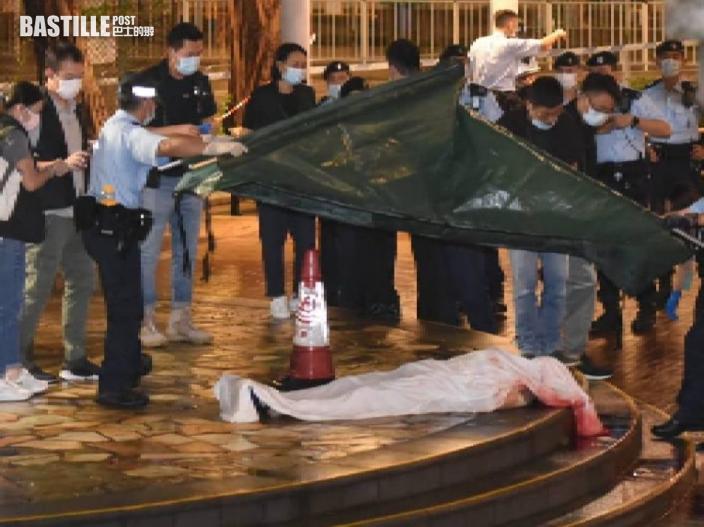 屯門男子滿身傷痕倒斃公園涼亭 警截一疑犯撿菜刀