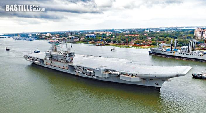 印度首艘國產航母海試