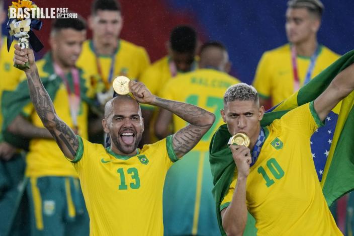 【東奧足球】巴西奧運奪金未心足 丹尼爾艾維斯盼下年踢世界盃