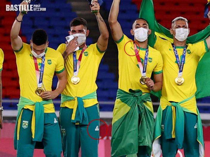 東奧男足 巴西足球奪金未穿上中國品牌贊助服惹議
