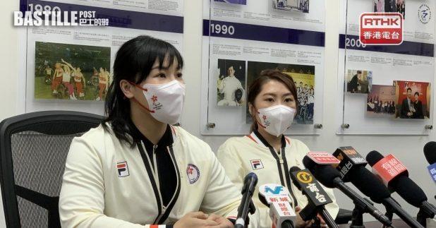 余翠怡與何宛淇代表香港出戰東京殘奧會。(李大煒攝)