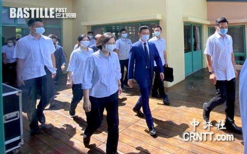 中評鏡頭:蔡英文到新竹視導 防爆車待命