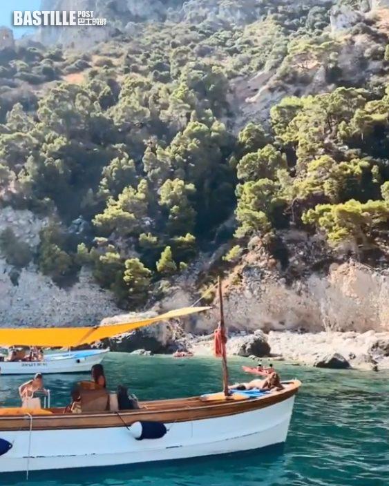 國際聯賽掃6面獎牌輕鬆晒   何詩蓓去意大利Capri藍洞狂打卡