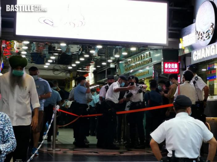 警重慶大廈拉封鎖線 疑圍封強檢