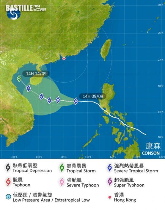 颱風不似預期?天文台料「燦都」直奔台灣東部至上海沿海
