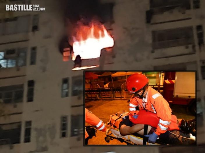 白田邨凌晨火釀1死13傷 男子逃生失足墮下亡
