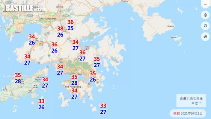 雙旋夾擊|上水錄38.1度創04年來最高溫紀錄 周末熱爆料市區高見35度